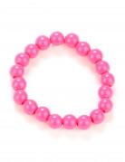 Perlenarmband für Erwachsene 80er Jahre rosa