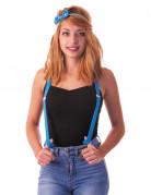 Hosenträger für Erwachsene neonblau