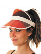 Schirm Mütze Sonnenschutz für Erwachsene orange-weiss