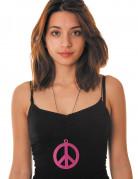 Hippie Kette Peace in Lila