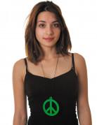 Hippie Peace Kette grün