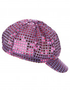 Ballonmütze Party mit Pailletten violett