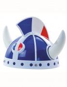 Gallischer Helm für Erwachsene blau-weiss-rot
