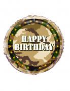Geburtstags Aluminium Luftballon Happy Birthday Militär