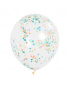 Befüllbare Luftballons mit Konfetti 6 Stück bunt