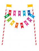 Kuchendeko Happy Birthday bunt