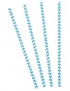 Strohhalm-Set 10 Stück blau-weiss 20 cm