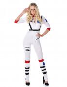 Astronautin Damenkostüm Raumfahrerin weiss-bunt