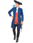 Piraten-Herrenkostüm Freibeuter blau
