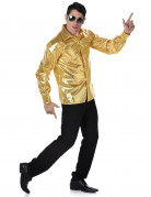 Disco-Herrenhemd 70er-Jahre-Männerhemd gold