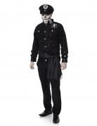 Zombie Offizier Halloween Herrenkostüm schwarz