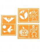 Snazaroo™-Schminkschablonen Halloween-Klebeschablonen 6 Stück orange 6x8,5cm