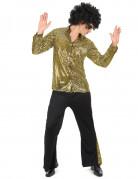 Disco Kostüm für Herren gold-schwarz