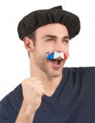 Fußball Fan Schnurrbart Frankreich blau-weiss-rot