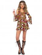 Blumen Hippiekostüm Damen braun