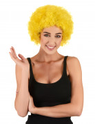 Verrückte Clown Afro-Perücke gelb