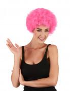 Lustige Clown Afro-Perücke rosa