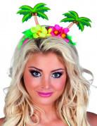 Hawaii Haarband Tiara Palmen bunt