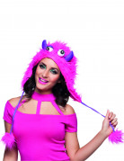 Monster-Mütze für Erwachsene pink-lila