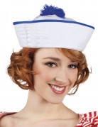 Matrosinnen-Damenhut weiss-blau