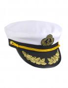 Kapitänsmütze für Erwachsene schwarz-weiß