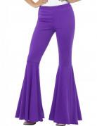 70er Jahre Disco-Schlaghose für Damen violett