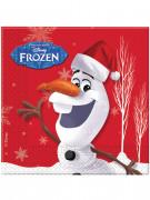 Olaf™ Weihnachtsservietten Die Eiskönigin™ Lizenzartikel 20 Stück rot-weiss 33x33cm
