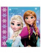 Frozen™-Servietten Schneeflocken 20 Stück 33cm