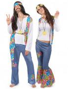 60er Jahre Hippies Kostüm-Set für Pärchen bunt