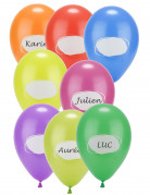 Partyballons zum Beschriften Namensballons 8 Stück bunt 30cm