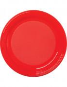 Partyteller Party-Zubehör 30 Stück rot 22cm