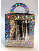 Party-Accessoire-Set Silvester für 10 Personen silber