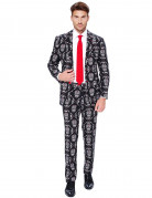 Opposuits Halloween-Anzug mit Totenschädeln schwarz-weiss-rot