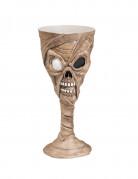 Schaurige Mumie Kelch Halloween Dekoration weiss-schwarz 250 ml