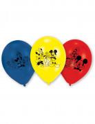 Luftballons Lizenzartikel Mickey Mouse 6 Stück blau-gelb-rot