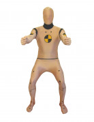 Crash Test Dummy Morphsuit beige-schwarz
