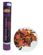 Konfettikanone mit Halloween-Konfetti Partyzubehör orange-schwarz 30cm