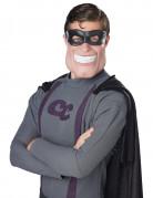 Superheld Halbmaske mit Augenmaske hautfarben-schwarz