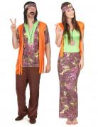 Hippie-Paarkostüm Flower Power bunt