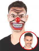 Transparente Clowns-Halbmaske Horrorclown-Halloweenmaske bunt-transparent