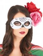 Augenmaske Tag der Toten für Damen weiss-schwarz