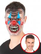 Schauriger Horror-Clown Maske für Erwachsene bunt