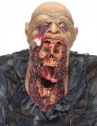 Verschlingende Zombie-Maske mit Brustteilbeige/schwarz/rot