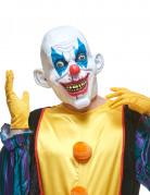 Halloween Clown Latex Maske lachend für Erwachsene bunt