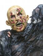 Blutiger Zombie Maske mit Maden bunt