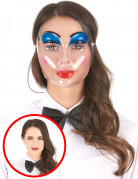 Geheimnisvolle Puppen-Maske geschminkt bunt