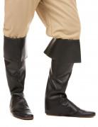 überstiefel Stiefelstulpen schwarz
