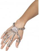 Knochenhand-Handschmuck Skelettkostüm-Accessoire silber