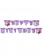 Happy-Birthday-Girlande Eiskönigin violett