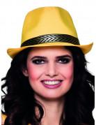 Hut mit Band für Erwachsene gelb-gold-schwarz